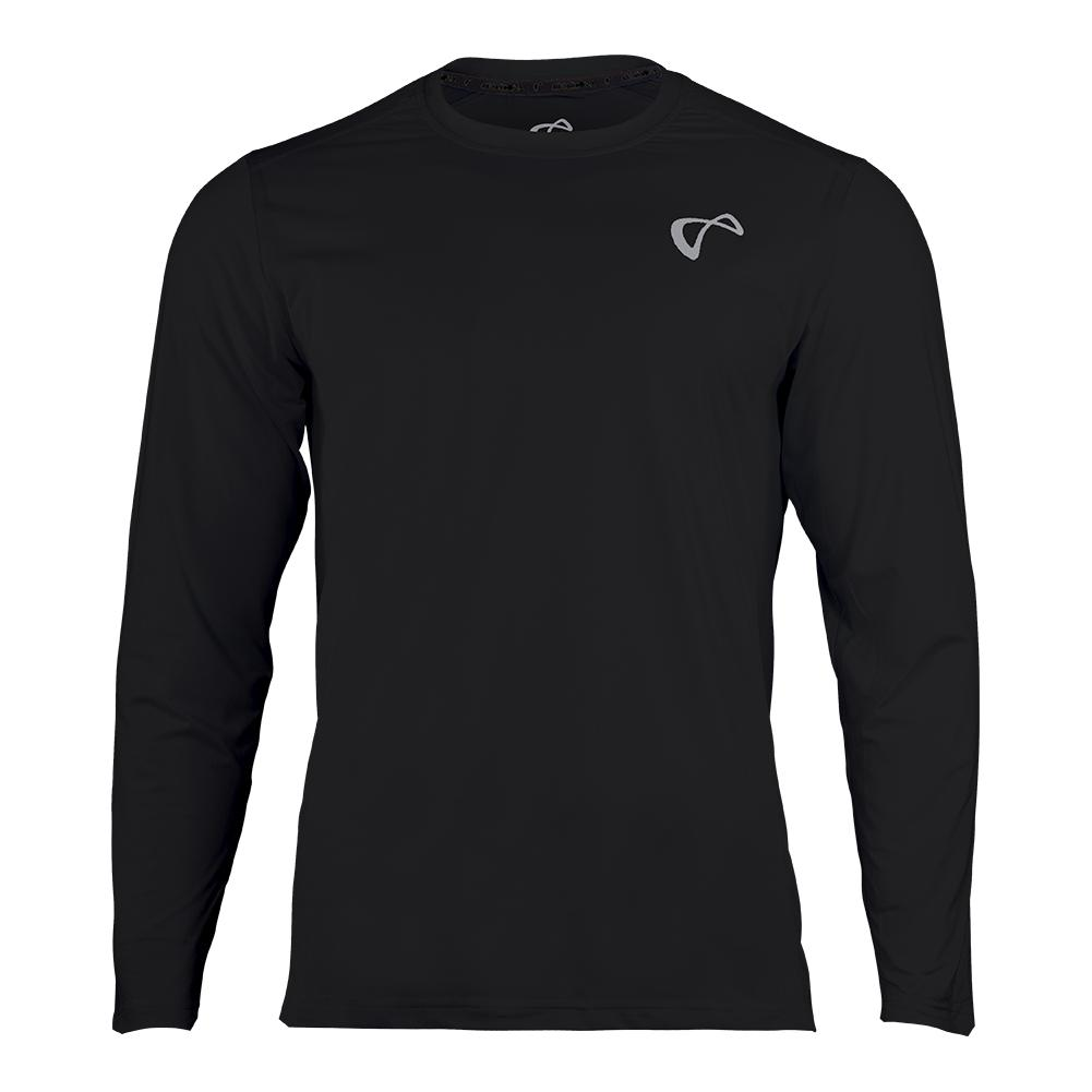 Boys ` Ventilator Long Sleeve Tennis Top Black