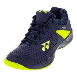 Juniors` Power Cushion Eclipsion 2 Tennis Shoes Navy and Yellow