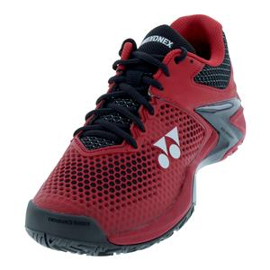 Men`s Power Cushion Eclipsion 2 Clay Tennis Shoes Red and Black