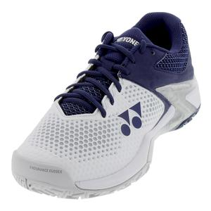 Men`s Power Cushion Eclipsion 2 Tennis Shoes White and Navy