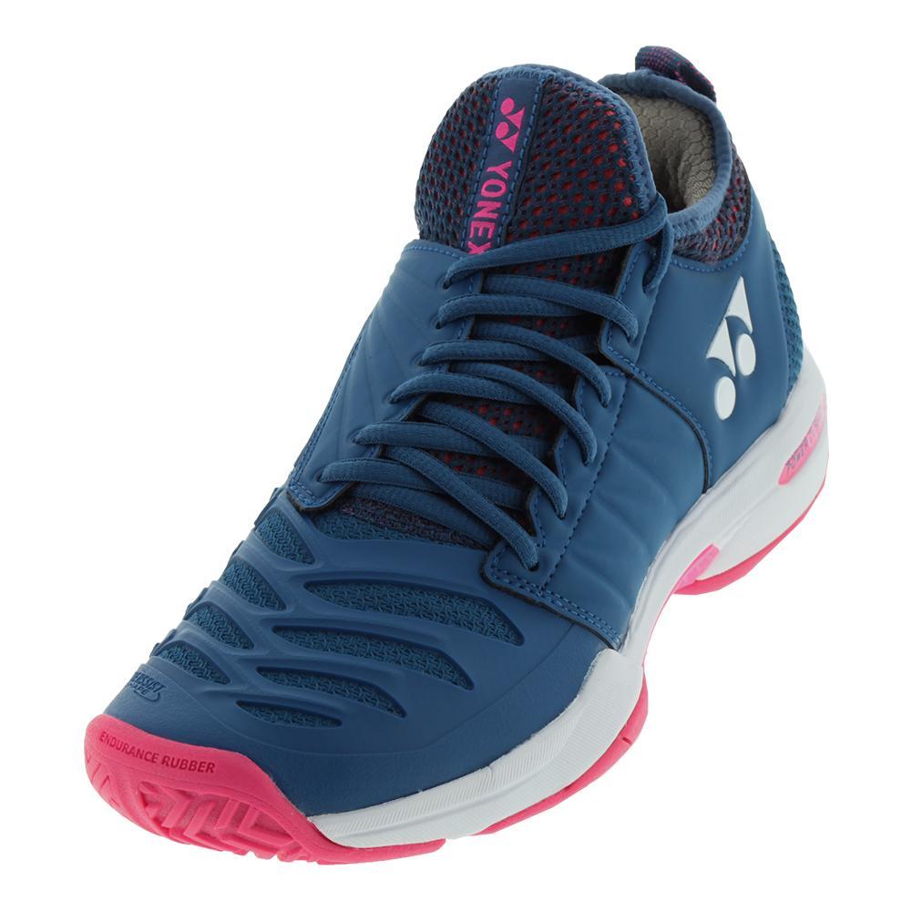 YONEX - Women`s Power Cushion Fusionrev 3 Tennis Shoes Navy Pink ... 1b4578413d2