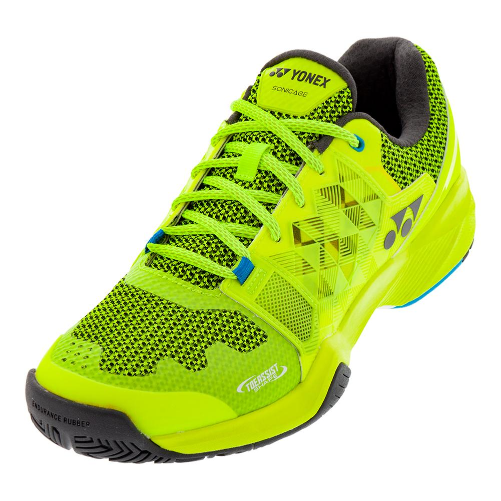 Men's Power Cushion Sonicage Tennis Shoes Lime Yellow