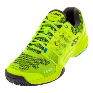 Men`s Power Cushion Sonicage Tennis Shoes Lime Yellow