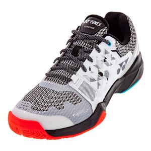 Men`s Power Cushion Sonicage Tennis Shoes White and Black