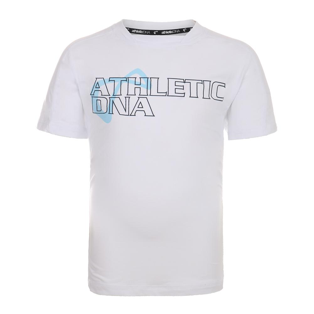 Men's Graphic Tennis Crew White