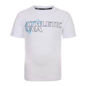 Men`s Graphic Tennis Crew White