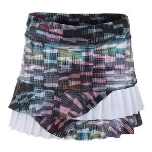 Women`s Spirit 13 Inch Tennis Skort Matrix Print and White