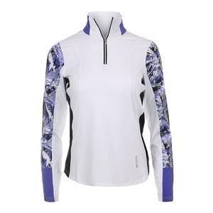 Women`s Purple Passion Quarter Zip Top White