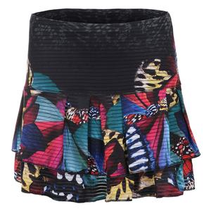 Women`s Long Monarch Tier Tennis Skort Print