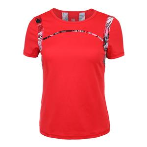 Women`s Brenda Short Sleeve Tennis Top Chili