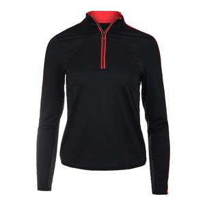 Women`s Olenna Long Sleeve Tennis Top Black