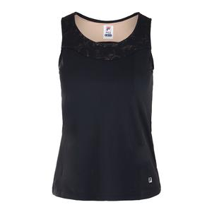 Women`s Style Setters Full Coverage Tennis Tank Black and Sand