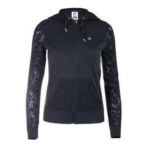 Women`s Style Setters Tennis Jacket Black and Sand