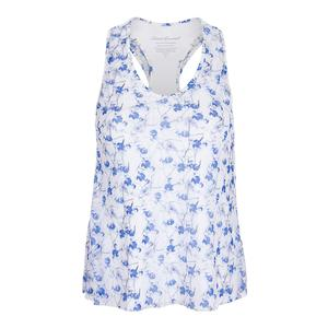 Women`s Mesh Layered Racerback Tennis Top Print