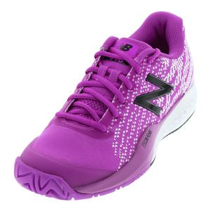 Women`s 996v3 B Width Tennis Shoes Voltage Violet and White