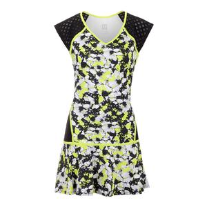 Women`s Lattice Tennis Dress Morning Glory Print