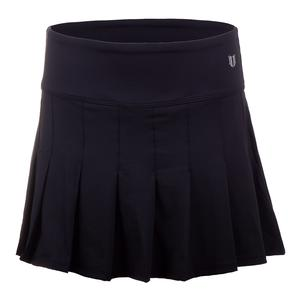 Womens Flutter 14 Inch Tennis Skort Black