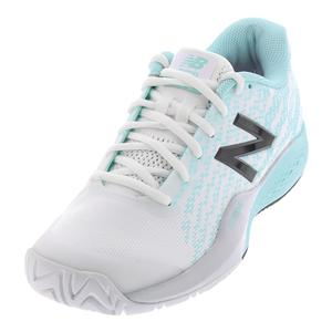 Women`s 996v3 B Width Tennis Shoes White and Light Reef
