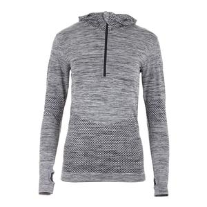 Women`s Seamless Zip Tennis Hoodie Black