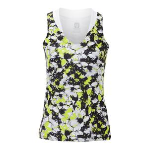 Women`s Love Tennis Tank Morning Glory Print