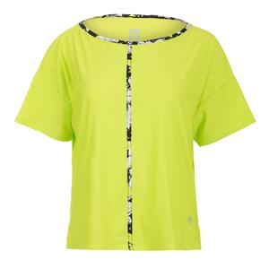Women`s Sway Short Sleeve Tennis Top Lime Popsicle