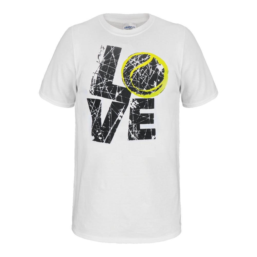 Unisex Love Tennis Tee White