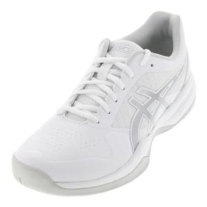 Men`s Gel-Game 7 Tennis Shoes White and Silver