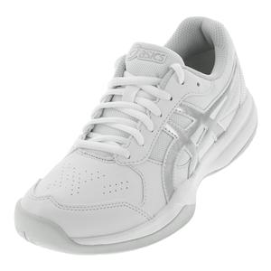 Juniors` Gel-Game 7 GS Tennis Shoes White and Silver