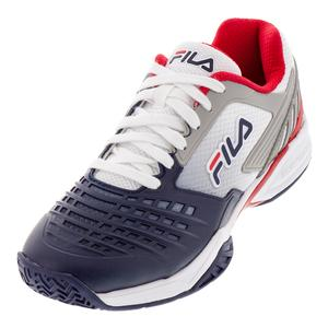 Men`s Axilus 2 Energized Tennis Shoes White and Navy