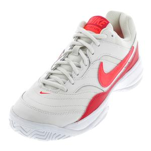 Women`s Court Lite Tennis Shoes Phantom and Bright Crimson