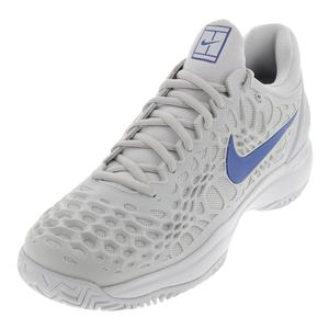 Men`s Zoom Cage 3 Tennis Shoes Vast Gray and Indigo Force