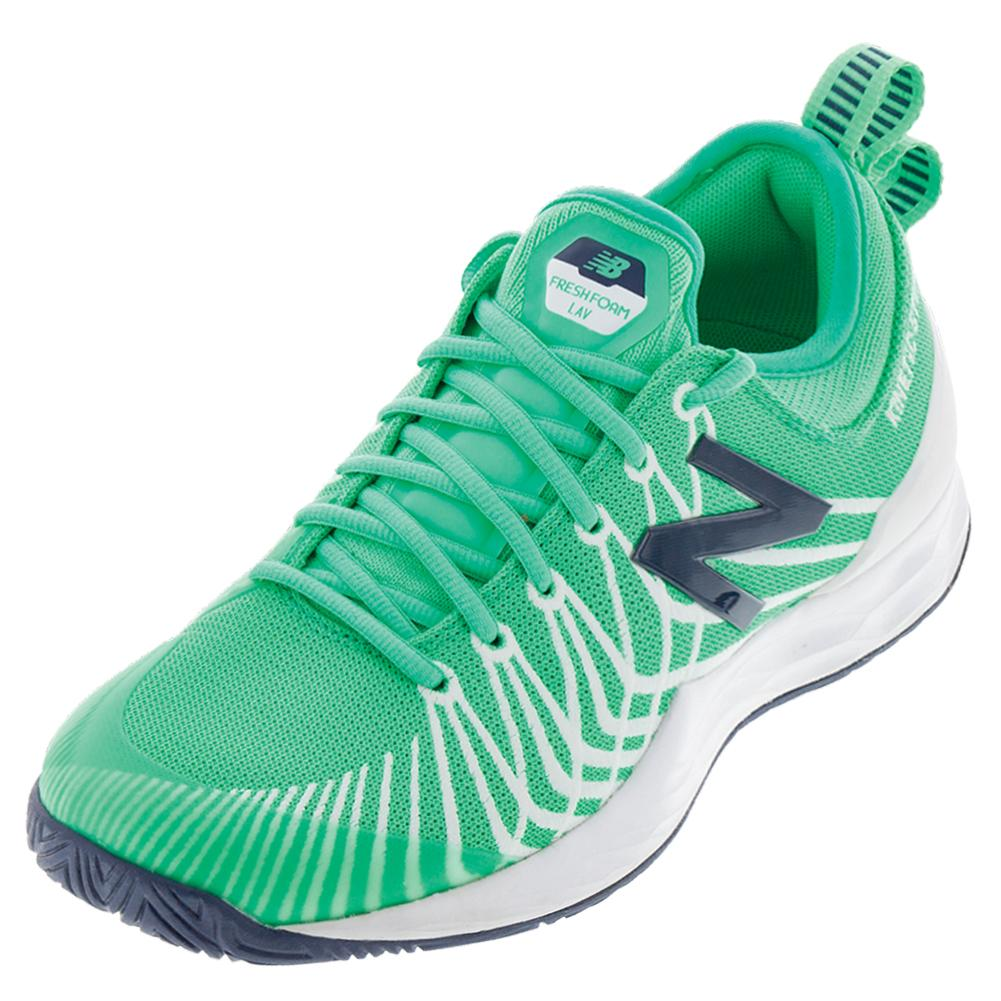 Men's Fresh Foam Lav D Width Tennis Shoes Neon Emerald