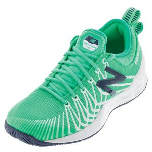 Men`s Fresh Foam Lav D Width Tennis Shoes Neon Emerald