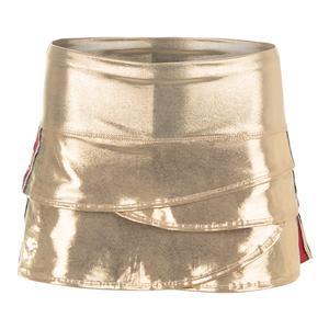 Women`s Olympian Scallop Tennis Skirt Gold