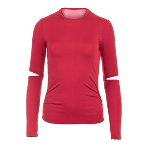 Women`s Olympian Long Sleeve Tennis Top Brandy