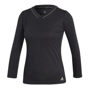 Women`s Club UV Protect 3/4 Sleeve Tennis Top Black