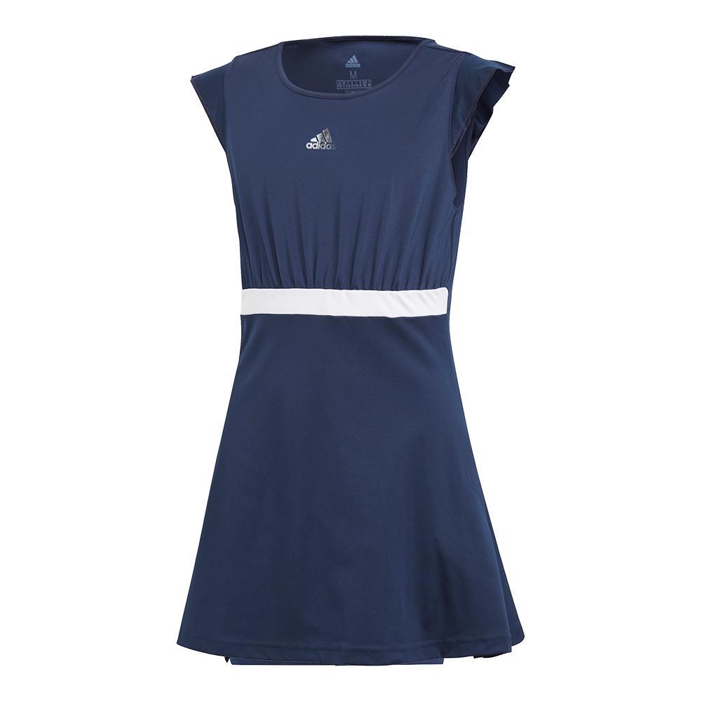 Girls ` Ribbon Tennis Dress Collegiate Navy