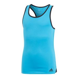 Girls` Club Tennis Tank Shock Cyan