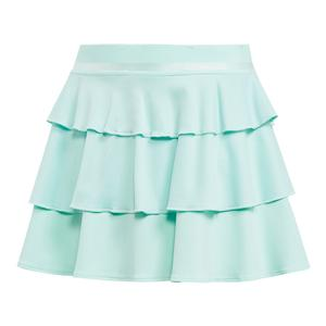 Girls` Frill Tennis Skirt Clear Mint