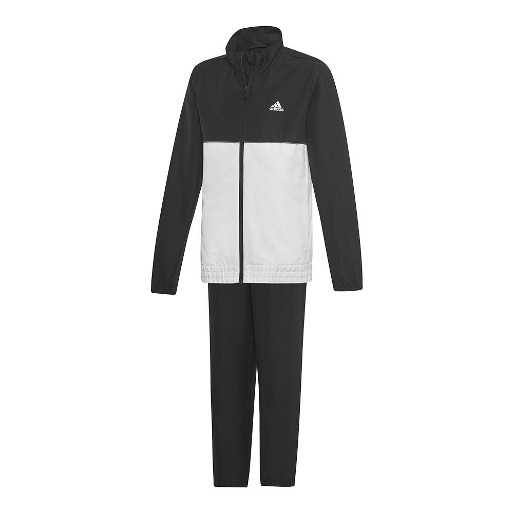 Juniors ` Club Tracksuit Set Black And White