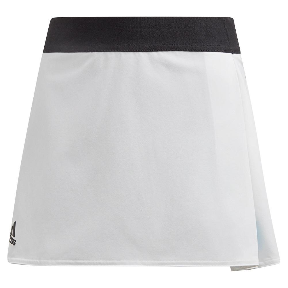 Girls ` Escouade Tennis Skirt White And Black