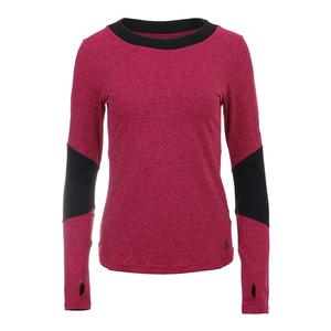 Women`s Luxe Long Sleeve Tennis Top Electro Pop