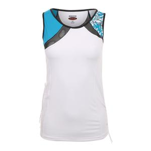 Women`s Island Breeze Tennis Tank White and Parisian