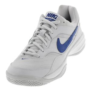 Men`s Court Lite Tennis Shoes Vast Gray and Indigo Force