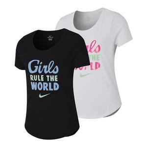 Girls` Sportswear Rule the World Graphic Tee