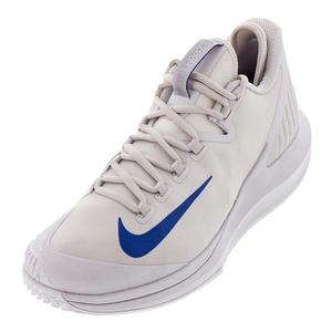 Men`s Court Air Zoom Zero Tennis Shoes Vast Gray and Indigo Force