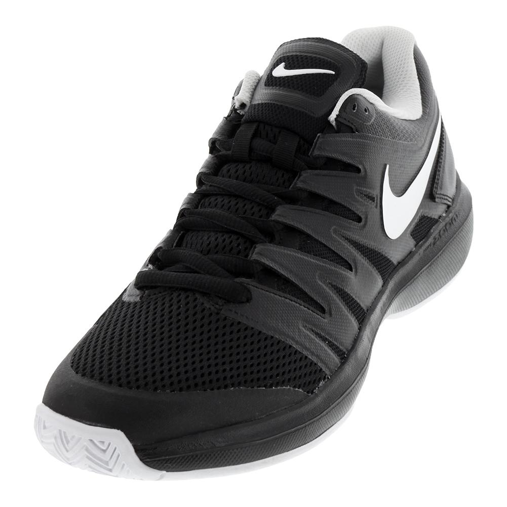 Juniors ` Air Zoom Prestige Tennis Shoes Black And White