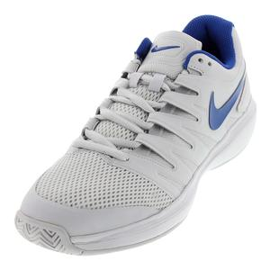 Juniors` Air Zoom Prestige Tennis Shoes Vast Gray and Indigo Force