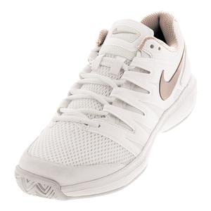 Women`s Air Zoom Prestige Tennis Shoes Phantom and Metallic Red Bronze