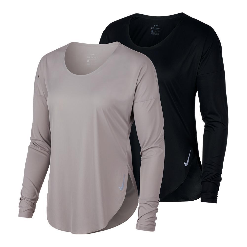 b6d5a449da3e Nike Women s City Sleek Long Sleeve Running Top